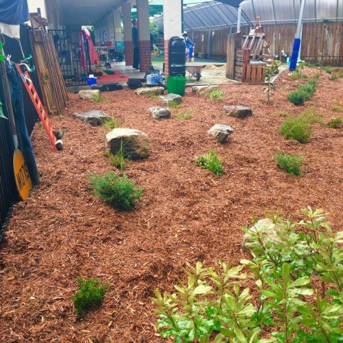 New landscaped garden at Everlearn Preschool Prestons