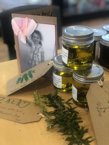 Herb infused Olive Oil and hand made labels